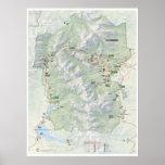 Poster del mapa de la montaña rocosa (Colorado) Póster