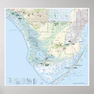 Poster del mapa de los marismas póster