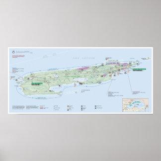 Poster del mapa de Royale de la isla (Michigan) Póster