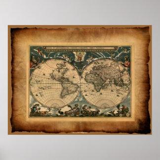 Poster del mapa de Viejo Mundo