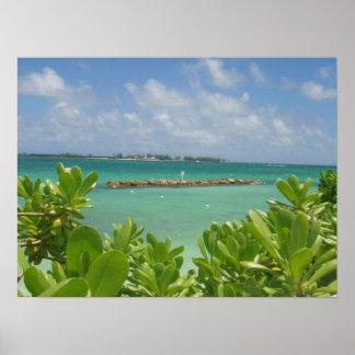 Poster del océano de Bahamas