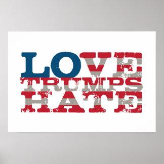 Poster del odio de los triunfos del amor póster