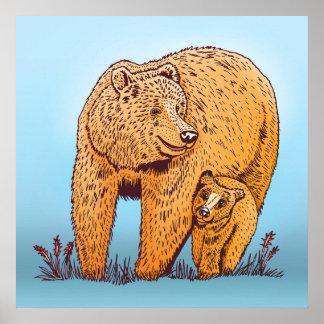 Poster del oso de la madre