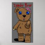 ¡Poster del oso del zombi!