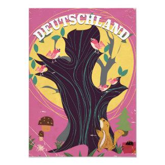 Poster del paisaje del dibujo animado del vintage invitación 11,4 x 15,8 cm