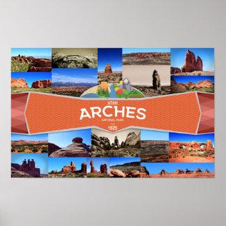 Poster del parque nacional de los arcos póster