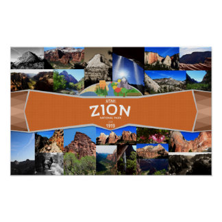 Poster del parque nacional de Zion Póster