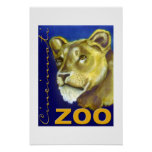 Poster del parque zoológico de Cincinnati