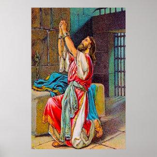 Poster del pecado y del rezo de 2 Manasseh de las