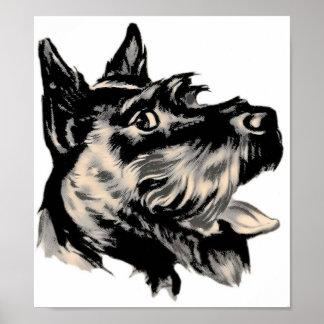 Poster del perro de Scotty Póster