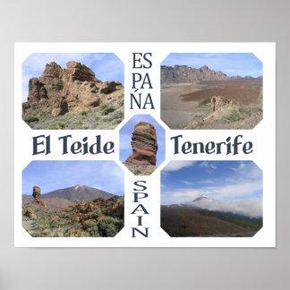 Poster del personalizado del EL Teide