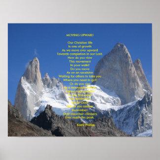 """Poster del poema: """"Moviéndose hacia arriba """""""