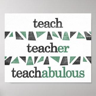 Poster del profesor - gramática de enseñanza póster