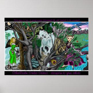 Poster del reino de la fantasía póster
