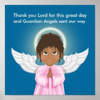 Poster del rezo del ángel de guarda - SRF