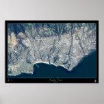 Poster del satélite de Santa Cruz, California