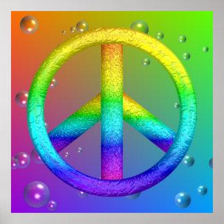 Poster del signo de la paz póster