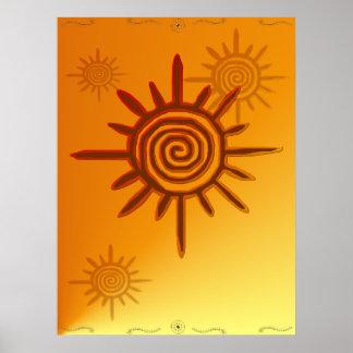 Poster del símbolo de Sun