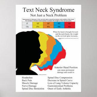 Poster del síndrome del cuello del texto póster