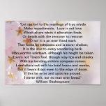 Poster del soneto de Shakespeare