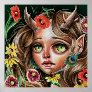 Poster del surrealismo del estallido de la ninfa póster