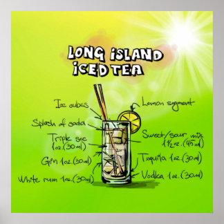 Poster del té de Long Island Icead