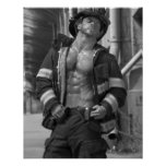 Poster del trozo del bombero del bombero