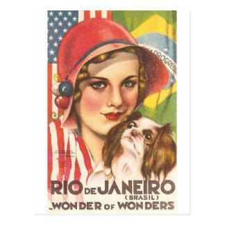 Poster del turismo de Río de Janeiro del vintage Tarjetas Postales