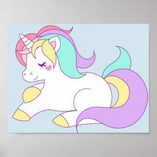 Poster del unicornio póster