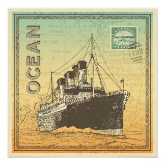 Poster del viaje con el buque de vapor