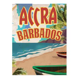 Poster del viaje de Accra Barbados Postal