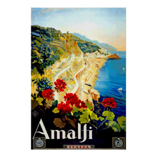 Poster del viaje de Amalfi Italia Europa del Póster