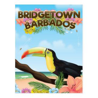 Poster del viaje de Bridgetown Barbados Toucan Postal