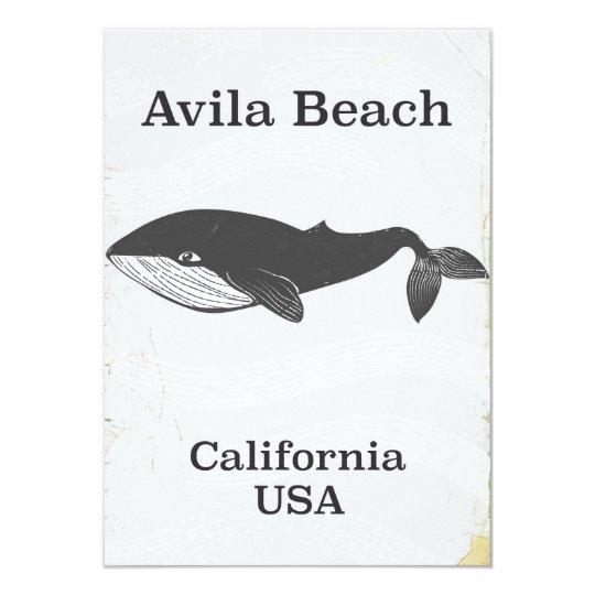 Poster del viaje de California de la playa de Invitación 11,4 X 15,8 Cm