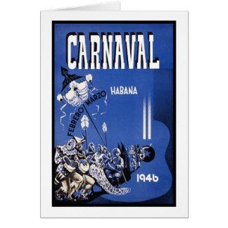 Poster del viaje de Carnaval Habana Tarjeta De Felicitación