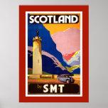 Poster del viaje de Escocia del vintage