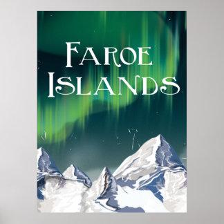 Poster del viaje de Faroe Island