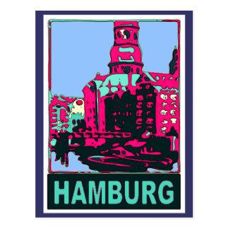 Poster del viaje de Hamburgo Postal