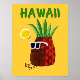 Poster del viaje de Hawaii Póster