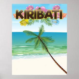 Poster del viaje de la isla de Kiribati Póster