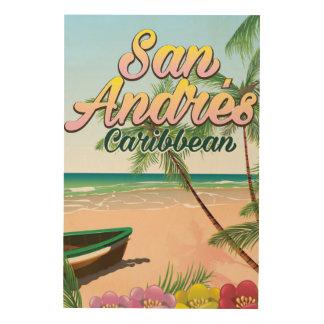 Poster del viaje de la isla de San Andrés Impresión En Madera