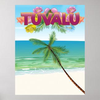 Poster del viaje de la isla de Tuvalu Póster