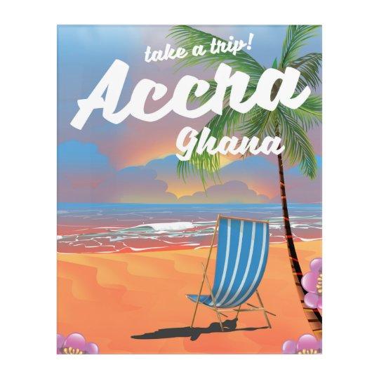 Poster del viaje de la playa de Accra Ghana Impresión Acrílica