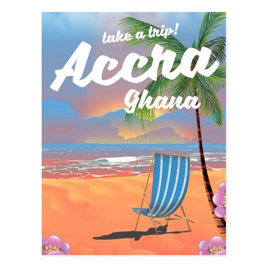 Poster del viaje de la playa de Accra Ghana Postal
