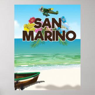 Poster del viaje de la playa de San Marino Póster
