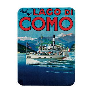 Poster del viaje de Lago Di Como Vintage Imán