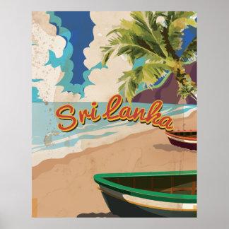 Poster del viaje de las vacaciones del vintage de póster