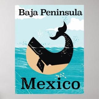 poster del viaje de México de la península del Póster