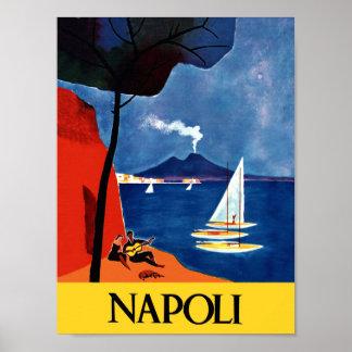 Poster del viaje de Nápoles, Italia Póster
