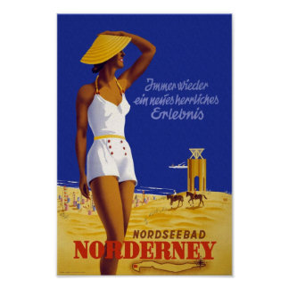 Poster del viaje de Nordseebad Norderney del Póster